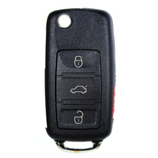 Audi compatible 4 button HU66 remote flip Key housing with Panic button