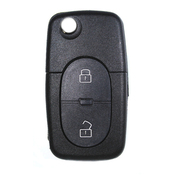 Audi compatible 2 button HU66 remote flip Key housing