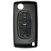 Citroen compatible 3 button HU83 remote flip Key housing without Battery Clip