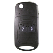 Chrysler Jeep compatible 2 button CY24 remote flip Key housing (flip Key Upgrade for KG JEP03)