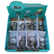 Split Key Rings 320 Units of 8 different Sizes