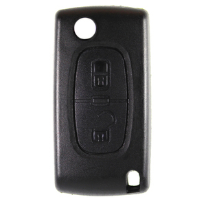 Peugeot compatible 2 button HU83 remote flip Key housing without Battery Clip